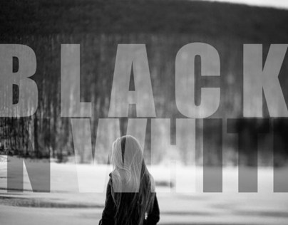 Black in white.
