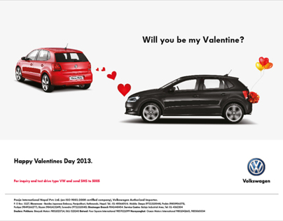 Volkswagen Valentines Day 2013 - Print Advertisement