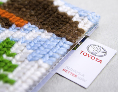 Toyota Knitted Card