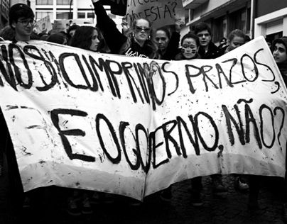 Portuguese School of Arts Protest - Dec, 2012