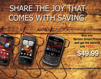 Mock Holiday Flyer for Verizon