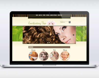 Everlasting Tan Website Design