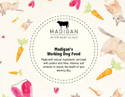 Madigans Dog Food Label