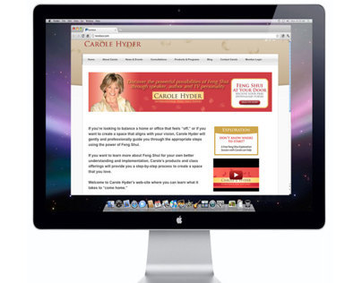 Website Redesign for Carole Hyder