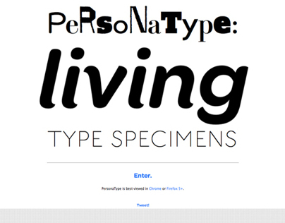 PersonaType: Living Type Specimens