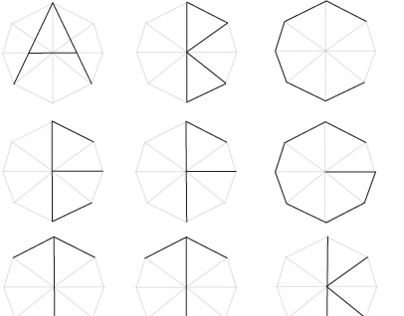 Typeface hexagon