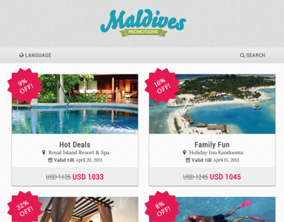 Maldives Promotions Website