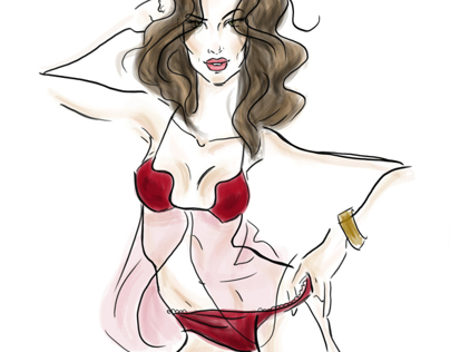 Lingerie Fashion Sketches