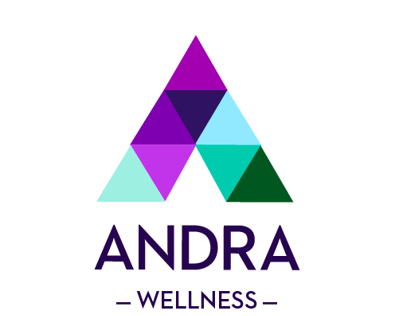 Branding and logo for Andra Wellness.