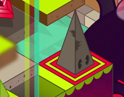 Boss Stage: Isometric Illustration
