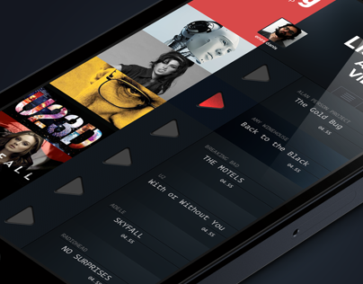 iphone Music App. Concept