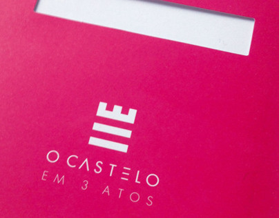 O Castelo em 3 Atos - Program & Invitation