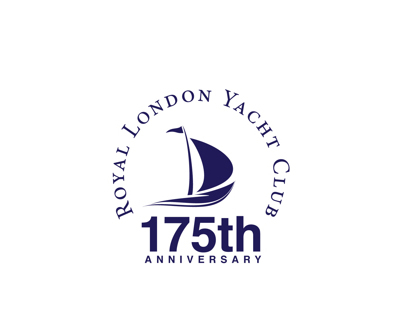 Logos for the London Royal Yacht Club anniversary