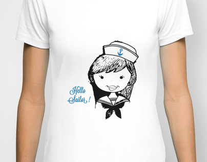 Illustration - Hello Sailor t-shirt