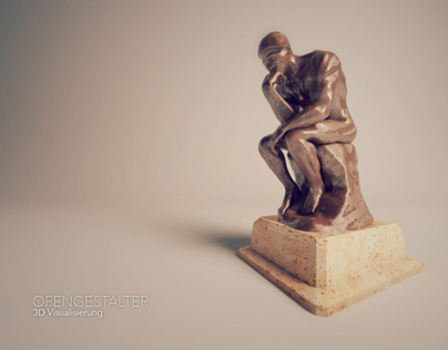 Rodin The Thinker et gyrofocus