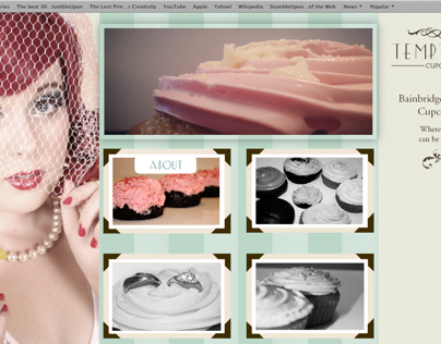 Temptations Cupcakes Website Design