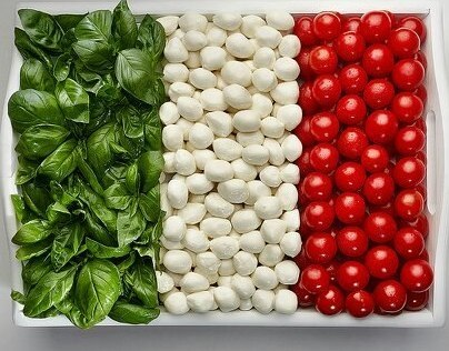 National Flags Made From Food