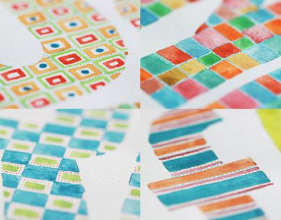Alphabet - Watercolor Patterns