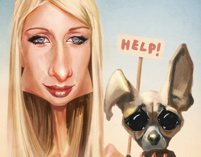 Paris Hilton caricature
