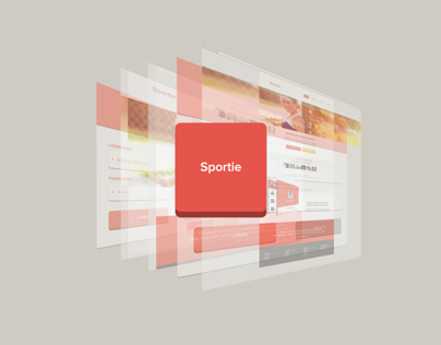 Sportie - some UI for a mobile and web application
