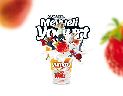 Yummy Fruit Yogurt Poster Design
