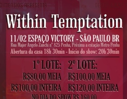 Flyer Within Temptation