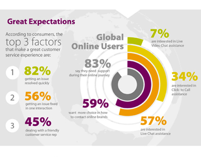 Online Customer Experience Survey Infograhic