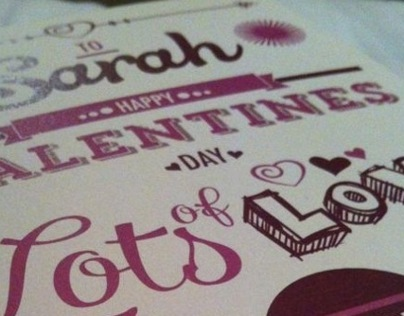 Valentines Day: Typography and Illustration