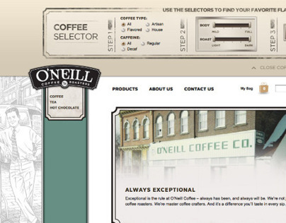 O'Neill Coffee Website