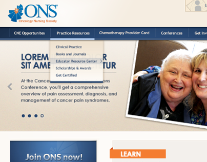 ONS Corporate | Website Re-design