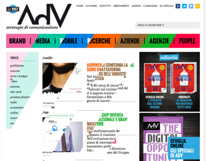 AdV - Strategie di Comunicazione / website restyling