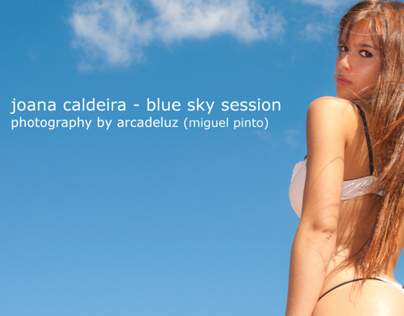 Joana Caldeira and the blue sky by ArcadeLuz