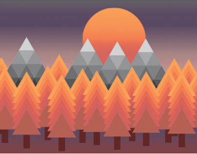 Digital Illustration - Polygon Landscapes