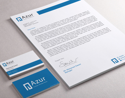 Azur Stationary Design