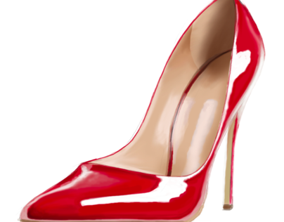 Red Shoe Render Step by Step