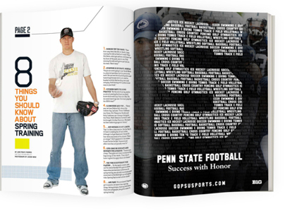 Penn State Athletics Magazine Advertisements