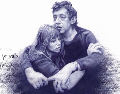Jane & Serge on bic ball pen