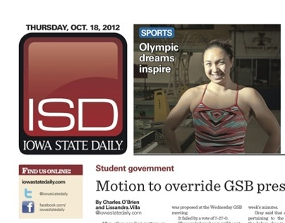 Iowa State Daily Layouts