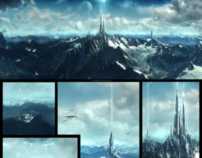 Sci-fi Matte Paintings close-ups and walkthroughs