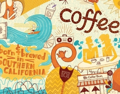Coffee Bean & Tea Leaf Mural