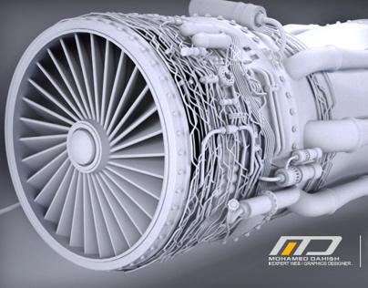 Incoming - 3D modeling design for F-16 Jet Engine