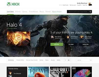 Xbox.com Redesign Concept