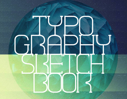 advertising poster for typography sketchbook