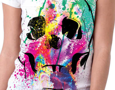 Trendy Skull T shirt design for teenagers
