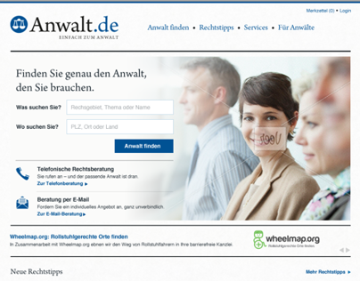 Anwalt.de Website Design Concept