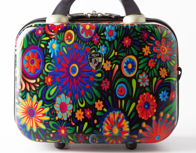 """Flowers dance"" Luggage collection Heys USA"