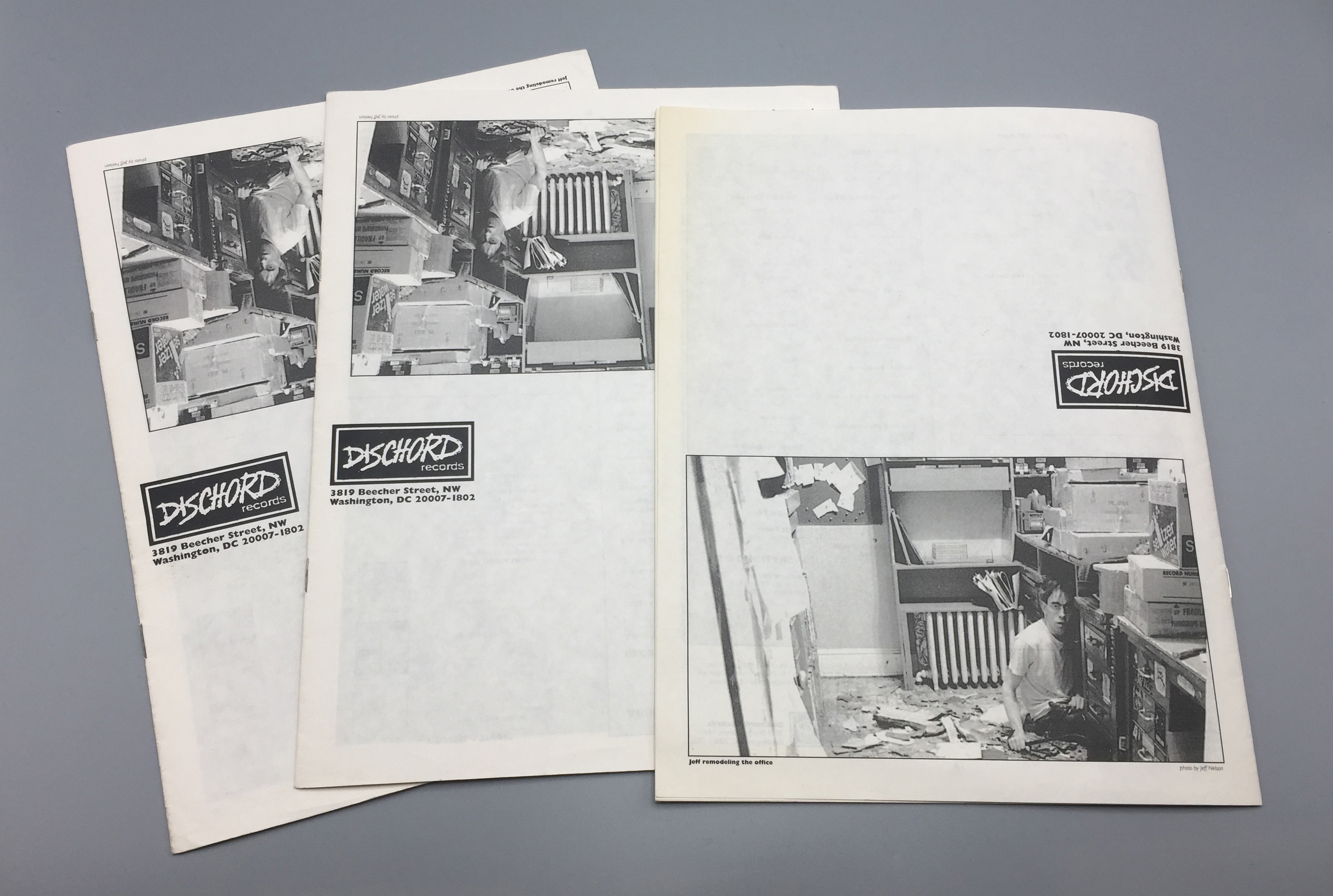 Dischord Records printed catalogs, 1992 & 1993