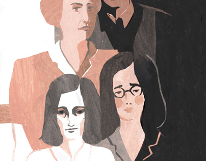 Anne Frank. Book design and illustration.