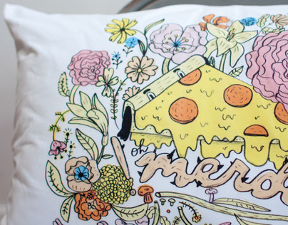 OH SHIT/OH MERDE PILLOWCASES