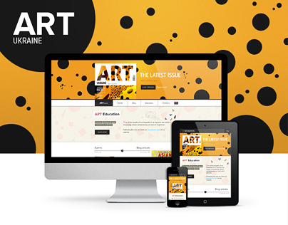 Concept for a Ukrainian Art Magazine Website